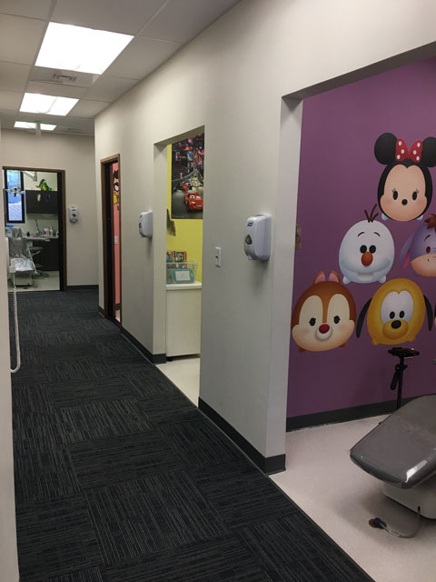 Hallway at the Oahu Pediatric Dentistry office.